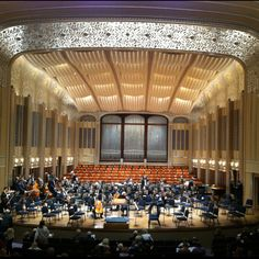 Beautiful Severance Hall - home of The Cleveland Orchestra - set for a moving performance of Beethoven's 9th Symphony. I love living in Northeastern Ohio.