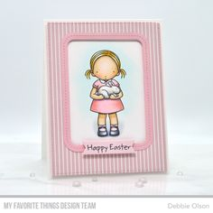 Stamps: Somebunny Sweet Die-namics: A2 Stitched Rectangle STAX Set 2, Single Stitch Line Rounded Rectangle Frames, Tag Builder Blueprints 5 Debbie Olson #mftstamps