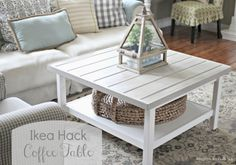 Ikea Hack hemnes coffee table with planked top - www.goldenboysandme.com
