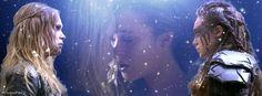 Lexa, Clexa, The 100, Alycia Debnam-Carey, Eliza Taylor #Lexa #Clexa