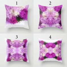 Violet Pillow cover Throw pillow Cushion covers Pillow by NikaLim
