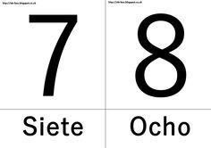 7: Siete y 8: Ocho