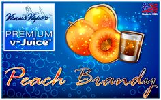 Fresh peaches and fruity brandy liquor. Our V-juice is 100% made in USA.