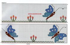 Angela Embroidery: these are beautiful embroidered 123 Cross Stitch, Cross Stitch Charts, Cross Stitch Embroidery, Cross Stitch Patterns, Butterfly Cross Stitch, Creations, Lily, Kids Rugs, Crochet