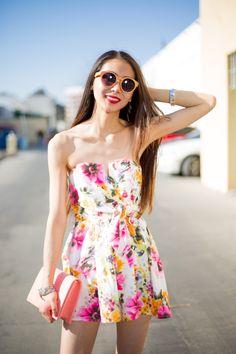 Kayla Floral Tube Romper Dress — MODLOOK 29