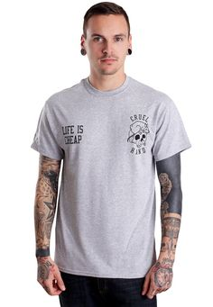 Order Cruel Hand - Life Is Cheap Sportsgrey - T-Shirt by Cruel Hand for €14.99 (7/8/2015) at Impericon - Shipping only 4.99€. Free shipping on orders over 100€.