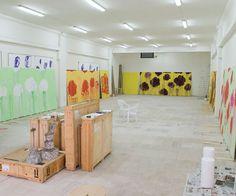 Cy Twombly's studio