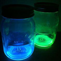 Glowing Kilner jars!