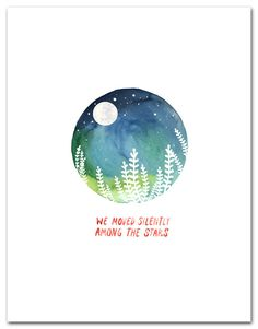 Among The Stars Art Print Watercolor by LittleTruthsStudio on Etsy
