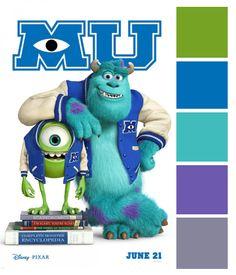 Poster Palette - Monsters University
