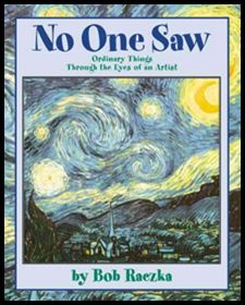 "No one saw stars like Vincent van Gogh. This book, ""No One Saw: Ordinary Things Through the Eyes of an Artist"" by Bob Raezka, inspires our children to make spiral-looking stars. This introduces the concept of continuous motion for handwriting while children begin studying deeply creative artists. From Nellie Edge Seminars."