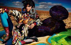 """Vogue UK """"High Plains Drifter"""" Model: Carmen Kass."""