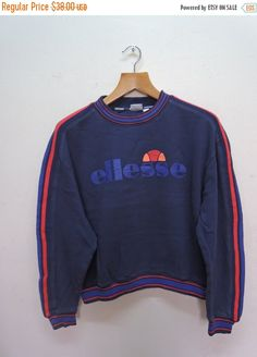 Vintage Ellesse Sweatshirt Pull Over Sport Sweater Urban Fashion bF5AS