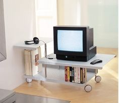 A #coffeetable made for tv sets. Roll on Module is a High tech line member of the #Graepel family