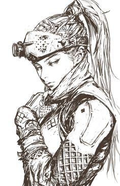 Character Design References, Character Art, Character Sketches, Cyberpunk Anime, Cyberpunk Art, Anime Lineart, Widowmaker, Shadowrun, Manga Art