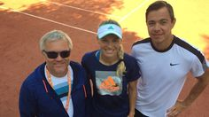 Left to rigght: Piotr, Caro and Sascha. Caroline Wozniacki, Tennis Clothes, Sport, Deporte, Sports