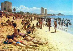 Praia do Náutico nos anos 70.
