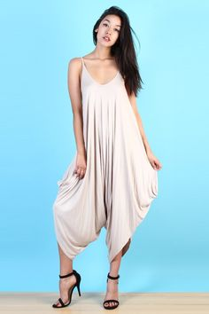 LoveMelrose.com From Harry & Molly Oversized Harem Jumpsuit - Ivory