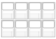 Use These For Any Subject You Like Couldn T Find A Simple One So I Made My Own 8 To An A4 Sheet E Picture Le And 4 Categories