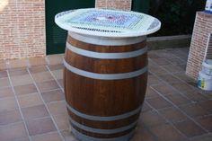 Cómo convertir un barril en una fantástica mesa para el jardín