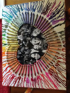 Crayon collage