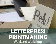 Letterpress Printmaking - Holiday Cards 2015 Sat & Sun 9AM – 4PM | Nov 7 & 8 | $200 In this two day letterpress class students will learn the basics of hand typesetting, letterpress terminology, fundamentals of letterpress printing as well as what to look for and how to achieve a good final print. We will complete two projects, the first being a collaborative, group print as we gain a feel for the process.