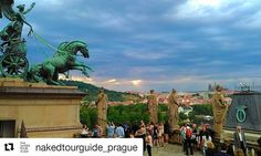 #Repost @nakedtourguide_prague  From the roof of the Czech National Theatre at intermission. #opera #prague #narodnidivadlo #nationaltheatre #nakedtourguide #visitcz #walkingtour