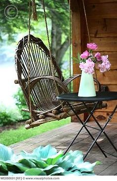 Love the swinging chair, perfect for reading a good book