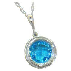 Blue Topaz Pendant in 14 kw https://www.goldinart.com/shop/colored-gemstones-necklaces/blue-topaz-pendant-14-kw-3