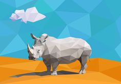 Low Poly Rhino on Behance