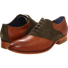 Cole Haan Air Colton Saddle Whiskey/Forest Suede