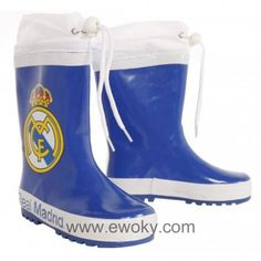 b29555690 Botas agua Real Madrid azul cierre ajustable
