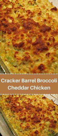 Easy Casserole Recipes, Casserole Dishes, Chicken Casserole, Cracker Barrel Chicken, Broccoli Cheddar Chicken, Easy Chicken Recipes, Easy Recipes, Restaurant Recipes, Cooking Recipes