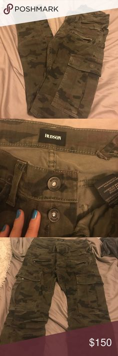 Men's Hudson cargo camo pants. Like new Like new condition. Hudson men's camo pants. Skinny fit Hudson Jeans Pants Cargo
