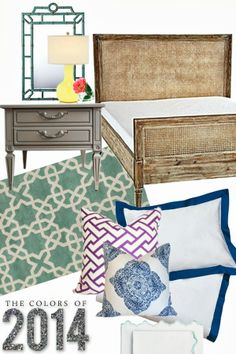 The Colors of 2014.   like the bedside table color
