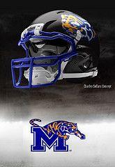 Memphis football helmets