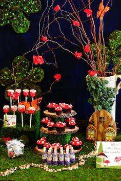 whimsical, wonderland dessert table