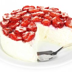This no crust frozen cheesecake is light and creamy and perfect served with fresh fruit.. Frozen Cheesecake Recipe from Grandmothers Kitchen.
