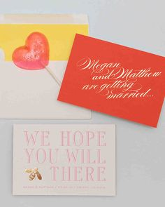 Modern Save-the-Dates | Martha Stewart Weddings