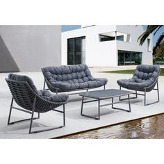 dCOR design Ingonish Beach Deep Seating Group with Cushion  $915 (currently sold out)