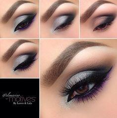 Pretty silver smokey eye
