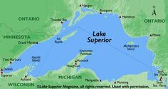 1.  Lake Superior is, by surface area, the world's largest freshwater lake. 2.  The surface area of Lake Superior (31,700 square miles or 82,170 square kilometers) is greater than the combined areas of Vermont, Massachusetts, Rhode Island, Connecticut, and New Hampshire.  3.  Lake Superior contains as much water as all the other Great Lakes combined, even throwing in two extra Lake Eries.  Its volume is second only to Russia's Lake Baikal.