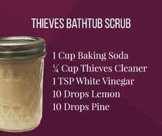 Make the most out of your free Pine essential oil this month with this easy DIY Bathtub Scrub. Essential Oil Cleaner, Pine Essential Oil, Thieves Household Cleaner, Thieves Cleaner, Thieves Essential Oil, Essential Oils Cleaning, Doterra Essential Oils, Essential Oil Blends, Yl Oils