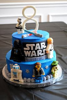Birthday Cake: Star Wars Lego Birthday Cakes---- OMG Sarah Butler wouldn't Joey just faint lol.  I'm so sorry I think this is above my ability level.