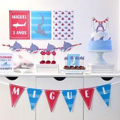 Shark Party, Ideas Para Fiestas, Baby Shark, Handicraft, Parties, Birthday Party Ideas, Baby Party, House Party, Teen Girl Birthday