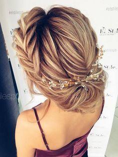 Half-updo, Braids, Chongos Updo Wedding Hairstyles / http://www.deerpearlflowers.com/wedding-hair-updos-for-elegant-brides/2/