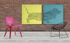 BASSET MIX wall art by deko boko.