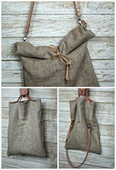 Fabric Handmade Bag FRANCESCA a beautiful handmade Vintage Military Fabric bag Diy Pochette, Leather Bag Tutorial, Diy Sac, Linen Bag, Fabric Bags, Vintage Bags, Handmade Bags, Purses And Bags, Reusable Tote Bags