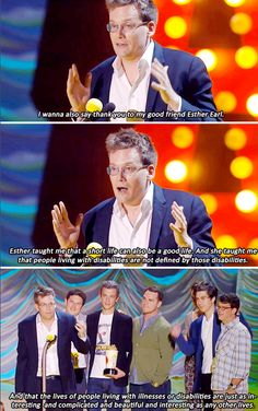 We love you John Green! Even if you completely ruined me life with your books...