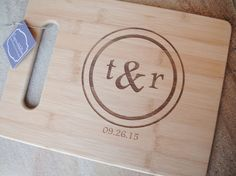 Large Engraved Cutting Board, Personalized Cutting Board, Custom Engraved, Bamboo Board: Wedding, Housewarming, Mothers Day, Anniversary    Custom